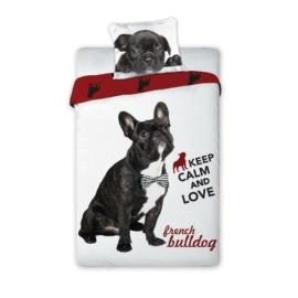 Best Friends kutyás ágyneműhuzat szett - Bulldog