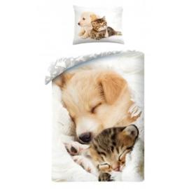 Kutya és cica Ágyneműhuzat szett (C-0035BL)