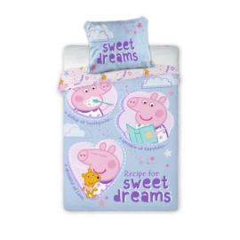 Peppa malac ovis ágyneműhuzat szett - Sweet Dreams kék