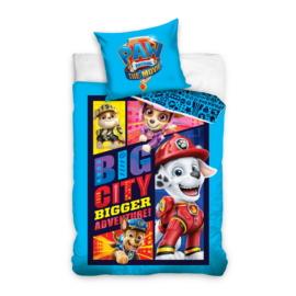 Mancs őrjárat ágyneműhuzat szett - Big City - kék