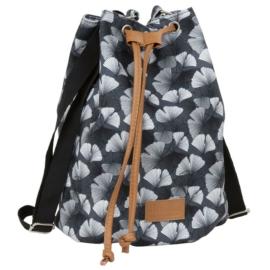 BackUp 2in1 mini vászon hátizsák - Ginkgo levél
