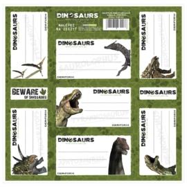 Dinoszauruszok 7 db-os füzetcímke (NNZDN)
