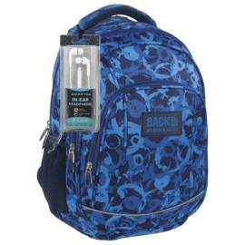 BackUp iskolatáska, hátizsák - 4 rekeszes - Kék körök (PLB1A8)