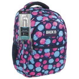 BackUp iskolatáska, hátizsák - 4 rekeszes - Pöttyös (PLB1B1)