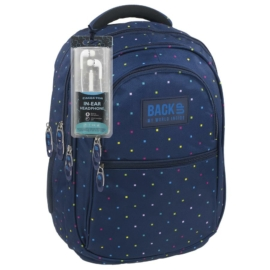 BackUp iskolatáska, hátizsák - 4 rekeszes - Színes konfetti (PLB1B15)