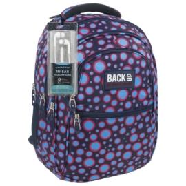 BackUp iskolatáska, hátizsák - 4 rekeszes - Pöttyös (PLB1B6)