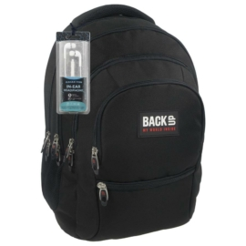BackUp iskolatáska, hátizsák - 4 rekeszes - Fekete (PLB1C27)
