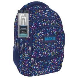 BackUp iskolatáska, hátizsák - 4 rekeszes - Színes pöttyök (PLB1C3)