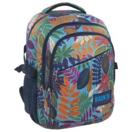 BackUp iskolatáska, hátizsák - 3 rekeszes - Színes levelek (PLB1G51)