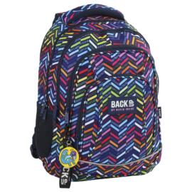 BackUp iskolatáska, hátizsák - 4 rekeszes - Cikcakk (PLB2A10)