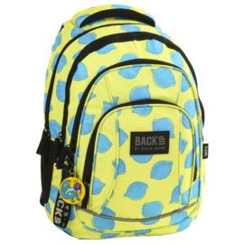 BackUp iskolatáska, hátizsák - 4 rekeszes - Citromok (PLB2A23)
