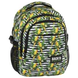 BackUp iskolatáska, hátizsák - 3 rekeszes - Papagájok (PLB2G68)