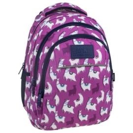 BackUp iskolatáska, hátizsák - 3 rekeszes - Lámák (PLB2H03)