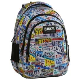 BackUp iskolatáska, hátizsák - 3 rekeszes - Táblák (PLB2H41)