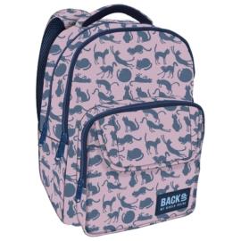 BackUp iskolatáska, hátizsák - 3 rekeszes - Cicák (PLB2L18)