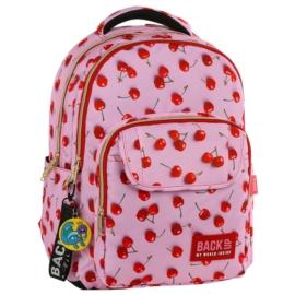 BackUp iskolatáska, hátizsák - 3 rekeszes - Cseresznyés (PLB2L31)