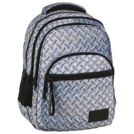BackUp iskolatáska, hátizsák - 4 rekeszes - Lemez minta (PLB2M42)