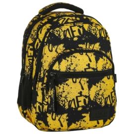 BackUp iskolatáska, hátizsák - 4 rekeszes - Sárga (PLB2M43)