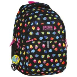 BackUp iskolatáska, hátizsák - 3 rekeszes - Szamócás (PLB2N05)