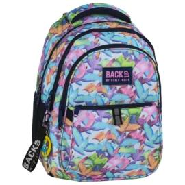 BackUp iskolatáska, hátizsák - 3 rekeszes - Színes madarak (PLB2N51)