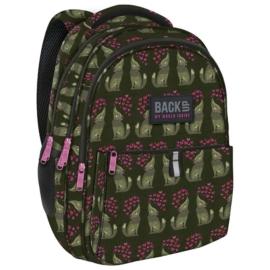 BackUp iskolatáska, hátizsák - 3 rekeszes - Farkasok (PLB2N52)