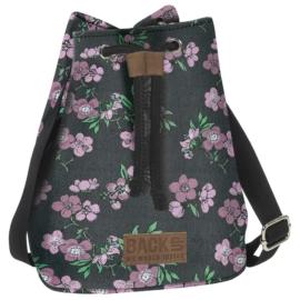 BackUp 2in1 mini vászon hátizsák - Lila virágok (TPCB2A24)
