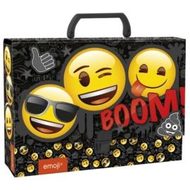 Emoji nagy fogantyús irattartó A4/95 mm (TRGEM)