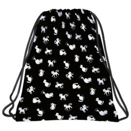 BackUp Cicás tornazsák - Fekete-fehér