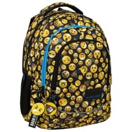 BackUp Emoji iskolatáska, hátizsák - 3 rekeszes - Emoticons