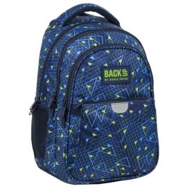 BackUp hátizsák - 3 rekeszes - Blue Triangles