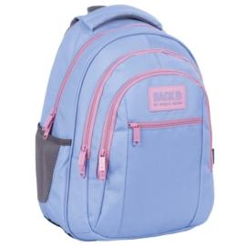 BackUp iskolatáska, hátizsák mellpánttal - 3 rekeszes - Pasztell lila