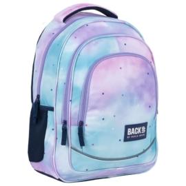 BackUp iskolatáska, hátizsák - 3 rekeszes - Pasztell csillagok