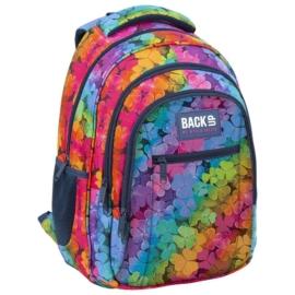 BackUp iskolatáska, hátizsák - 3 rekeszes - Szivárvány szirmok