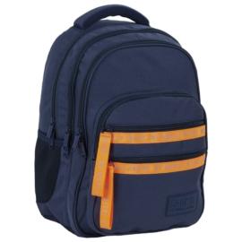 BackUp iskolatáska, hátizsák - 4 rekeszes - Fluo Navy