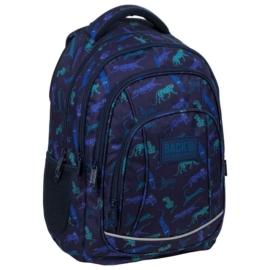 BackUp iskolatáska, hátizsák - 4 rekeszes - Kék leopárdok