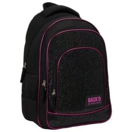 BackUp iskolatáska, hátizsák - 3 rekeszes - Black csillám
