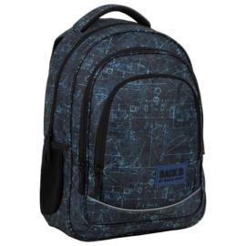 BackUp iskolatáska, hátizsák - 3 rekeszes - Modell