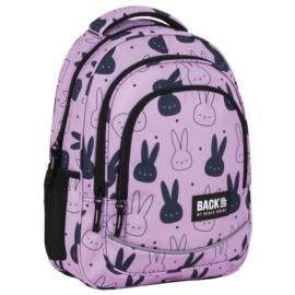 BackUp Nyuszis iskolatáska, hátizsák - 3 rekeszes - Pink