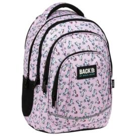 BackUp unikornisos iskolatáska, hátizsák - 4 rekeszes - Pastel Pink
