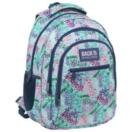 BackUp virágos iskolatáska, hátizsák - 3 rekeszes - Nyár