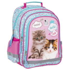 Cleo és Frank cicás iskolatáska, hátizsák - Meow