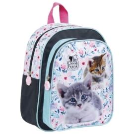 Cleo és Frank cicás kisméretű hátizsák - Virágos