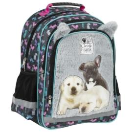 Cleo és Frank kutyás iskolatáska, hátizsák - Bulldog és labrador