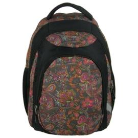 Jetbag iskolatáska, hátizsák - 3 rekeszes - Virágos motívumok