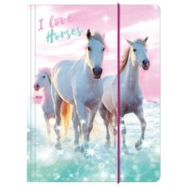 Lovas A/4 gumis mappa - I love horses