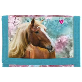 Lovas pénztárca - I love horses - Kék-rózsaszín