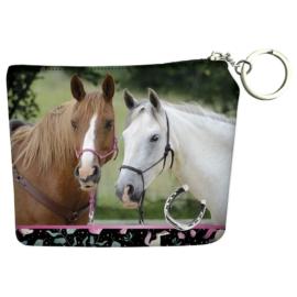 Lovas pénztárca kulcskarikával - I love horses - Fekete