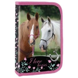 Lovas tolltartó - I love horses - Fekete