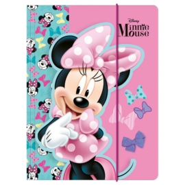 Minnie Mouse A/4 gumis mappa - Life is BOWtiful