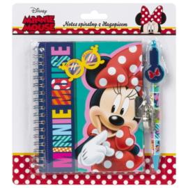 Minnie Mouse spirálos notesz tollal